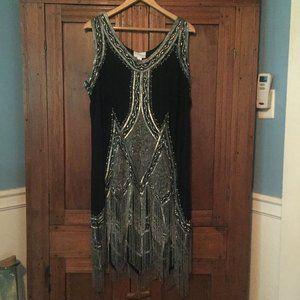 Vintage Plus Size Flapper Girl Dress